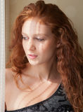 Young Woman in Window Light royalty free stock photos