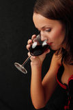 Young woman with wine Royalty Free Stock Photo