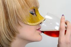 Young woman with a wineglass Stock Photo