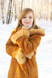 Young woman in winter Stock Image