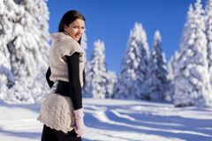 Young woman in winter Royalty Free Stock Photos