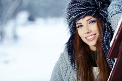 Young woman in winter Royalty Free Stock Images