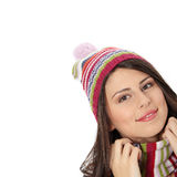 Young woman with winter cap Stock Photo