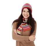 Young woman with winter cap Royalty Free Stock Photo