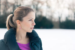 Young woman in winter Stock Images