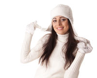 Young  woman in winter clothes. Stock Image