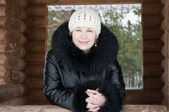 Young woman in winter clothes Stock Photo
