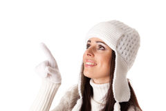 Young  woman in winter clothes. Royalty Free Stock Photo