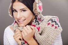 Young woman in winter clothes Royalty Free Stock Image
