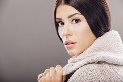 Young woman in winter clothes Royalty Free Stock Photography