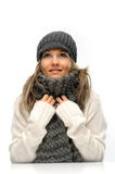 Young woman with winter clothes Stock Photo