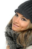 Young woman with winter clothes Stock Image