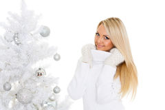Young  woman in winter clothes. Christmas. Stock Images