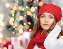 Young woman in winter clothes Stock Image