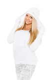 Young  woman in winter clothes. Stock Photo