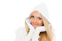 Young  woman in winter clothes. Royalty Free Stock Image