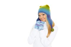 Young  woman in winter clothes. Stock Photography