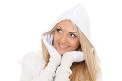 Young  woman in winter clothes. Royalty Free Stock Photography