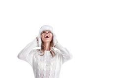 Young woman in winter clothing Royalty Free Stock Image