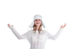 Young woman in winter clothing Stock Image