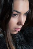 Young woman in a winter coat Royalty Free Stock Image