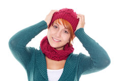 Young woman on a winter day Royalty Free Stock Image