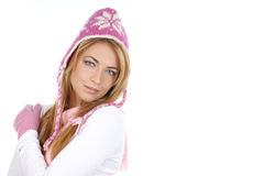 A young woman in a winter dress Stock Image