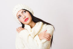 Young woman winter fashion Royalty Free Stock Image