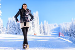 Young woman on winter holidays Royalty Free Stock Photos