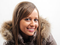 Young woman with winter jacket Stock Photography
