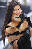 Young woman in winter - outdoor portrait Royalty Free Stock Images