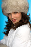 Young woman in winter outfit Royalty Free Stock Images
