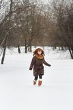 Young woman in winter park Stock Image