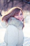 Young woman winter portrait. Stock Photos