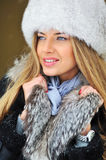 Young woman winter portrait Royalty Free Stock Photography