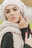 Young woman at winter Royalty Free Stock Photos