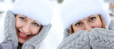 Young woman winter portrait Royalty Free Stock Photo