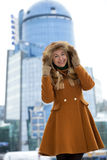 Young woman winter portrait Stock Photography