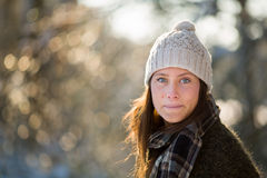 Young woman in winter Stock Photo