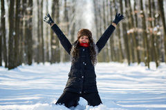 Young woman, winter portrait Stock Image