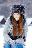 Young woman winter portrait. Stock Photography