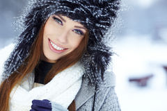Young woman winter portrait. Royalty Free Stock Image