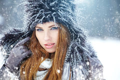 Young woman winter portrait. Royalty Free Stock Photography