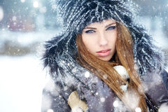 Young woman winter portrait. Stock Image