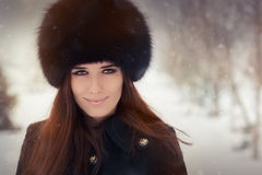 Young Woman Winter Portrait Royalty Free Stock Photos