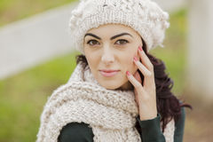 Young woman at winter Royalty Free Stock Images