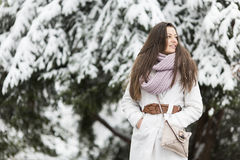 Young woman at winter Royalty Free Stock Image