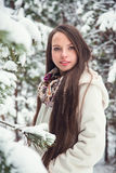 Young woman in winter Royalty Free Stock Photography