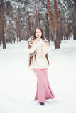 Young woman in winter Stock Photos