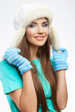 Young woman winter  style portrait, Stock Photography